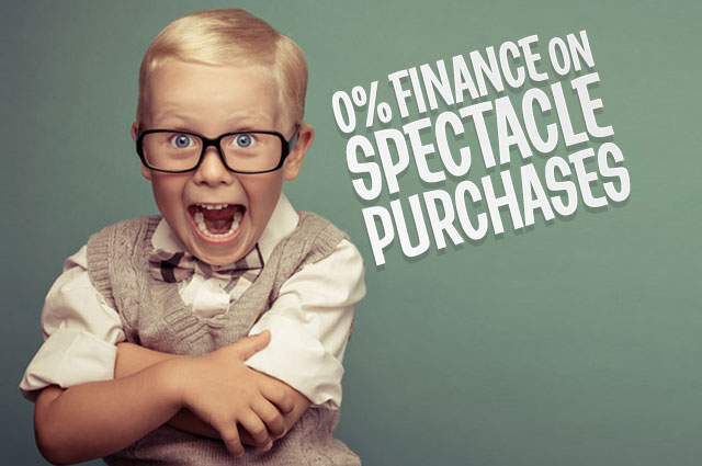 0% Finance on Spectacles